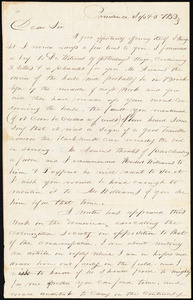 Letter from George William Benson, Providence, [R.I.], to Samuel Joseph May, Sept[ember] 5 1832