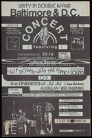 Poster. Unity in Double Affair, Baltimore & D.C. Concert