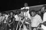 """Annie Devine speaking at an evening gathering in Canton, Mississippi, during the """"March Against Fear"""" begun by James Meredith."""