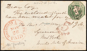 Letter from S. Alfred Steinthal, Bridgewater, [England], to Samuel May, May 4th, 1854