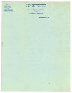 Niagara Movement letterhead