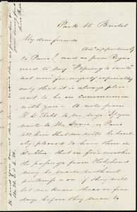 Letter from Sarah Pugh, Park St., Bristol, [England], to Maria Weston Chapman, [ca. Sept. 1852]