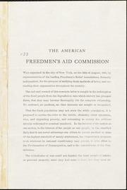 The American Freedmen's Aid Commission [manuscript]