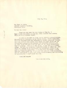 Letter from W. E. B. Du Bois to Harry E. Davis