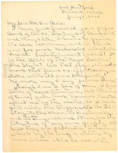 Letter from T. Eugene Cunningham to W. E. B. Du Bois