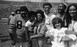 Ronald Townson, Rodney Allen Rippy, Joseph Campanella, Ruth Buzzi, Marvin Gaye and Marilyn McCoo, Los Angeles, 1973