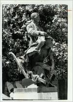 Statue of Booker T. Washington in front of Booker T. Washington High School, May 20, 1979