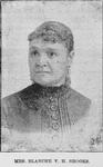 Mrs. Blanche V.H. Brooks. Able Pioneer Teacher, Able Writer, President W.C.T.U. [Woman's Christian Temperance Union]