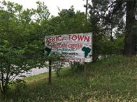 Africatown Welcome Center sign