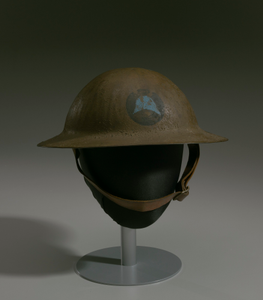 Combat helmet from World War I used by the 93rd Infantry Division