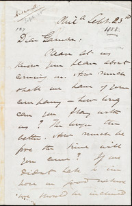 Letter from James Miller M'Kim, Phil[adelphi]a, [Pa.], to William Lloyd Garrison, Sept[ember] 23rd [1858]