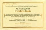 An Evening with Gwendolyn Brooks