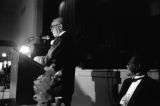 Early Wright, James Milton Campbell, Reverend Arnold Moore at banquet, Clarksdale, Miss., 1988. (ERW8 #361)