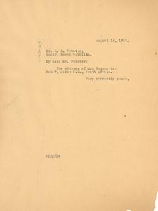 Letter from W. E. B. Du Bois to Edgar H. Webster