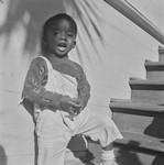 Black boy in overalls, San Francisco