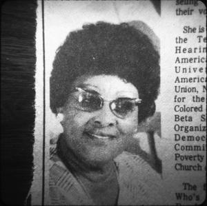 African-American Woman in Harrison County