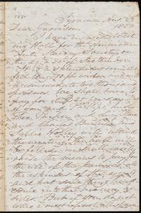 Letter from Samuel Joseph May, Syracuse, [N.Y.], to William Lloyd Garrison, Aug[ust] 23 1853