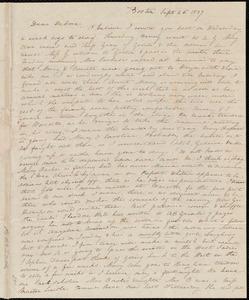 Letter from Anne Warren Weston, Boston, to Deborah Weston, Sept. 26, 1837