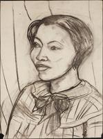 Charcoal drawing of Zora Neale Hurston