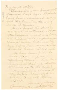 Letter from A. G. Dill to W. E. B. Du Bois