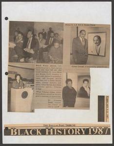 Clipping: Black History 1987 Dallas' Black Living Legends - Exhibitions - News
