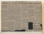 What Is Color of School Disruption?