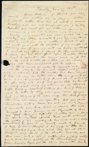 Letter from Mary Weston, [Weymouth, Mass.], to Deborah Weston, Thursday Evening, [April] 18th, [1839]