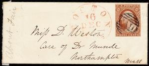 Letter from Anne Warren Weston, [Boston], to Deborah Weston, Monday Evening, 15th [Dec. 1843?]