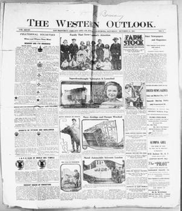 The Western Outlook. (San Francisco, Oakland and Los Angeles, Calif.), Vol. 28, No. 6, Ed. 1 Saturday, October 22, 1921 The Western Outlook