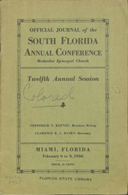 Official Journal of the South Florida Annual Conference, Methodist Episcopal Church, Twelfth Annual Session