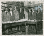 Thurgood Marshall and other members of the N.A.A.C.P. legal defense team who worked on the Brown v. Board of Education case