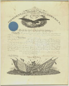 Officer's commission issued to Frank Stanwood, 1862 May 1