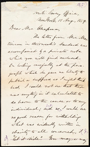 Letter from Oliver Johnson, Anti-Slavery Office, New York, to Maria Weston Chapman, 18 Aug. 1859