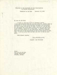 Letter from Leo Frobenius to W. E. B. Du Bois