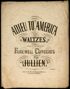Adieu to America : waltzes