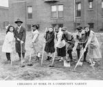 Children at work in a community garden