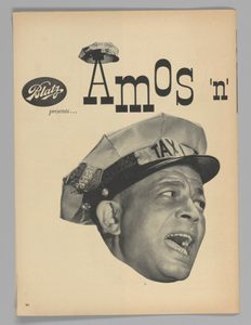 Advertisement for Amos 'n' Andy Television Show sponsored by Blatz