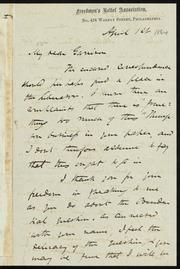 Letter to] My dear Garrison [manuscript