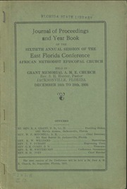 Journal of Proceedings and Year Book of the Sixtieth Annual Session of the East Florida Conference, African Methodist Episcopal Church