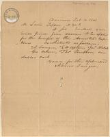 Letter from Abner Sanger to Lewis Tappan