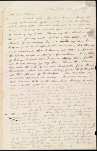 Letter from William Lloyd Garrison, New York, to Helen Eliza Garrison, May 7, 1838
