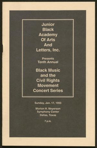Program: Black Music and the Civil Rights Movement Concert Series