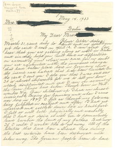 Letter from unidentified correspondent to unidentified correspondent