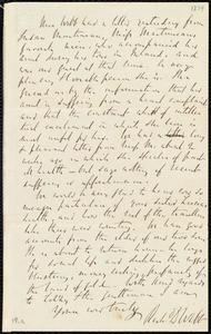 Partial letter from Richard Davis Webb, [Dublin?, Ireland], to Maria Weston Chapman, [1854]