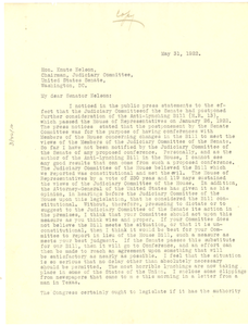 Letter from L. C. Dyer to Knute Nelson