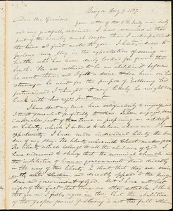 Letter from Edward Palmer, Bangor, [Maine], to William Lloyd Garrison, 1837 Aug[ust] 9
