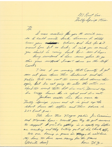 Letter from Ulysses Nunnally to Gloria Xifaras Clark