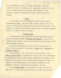 Pan African Congress resolutions [fragment]