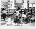 Hough Branch 1966: remodeled Carnegie building grand opening as Treasure House
