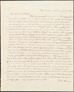Letter from Sarah Ann Adams, Hopkinton, to Amos Augustus Phelps, Jul. 13./34